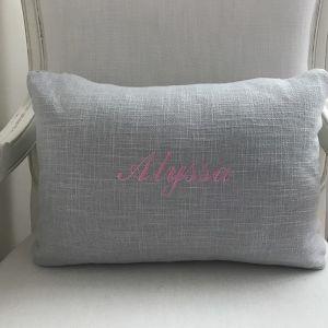 Personalised Lumbar Cushion | Grey