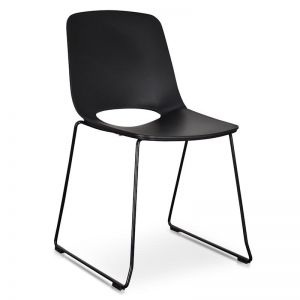 Persy Dining Chair | Black Seat - Black Legs | Interior Secrets