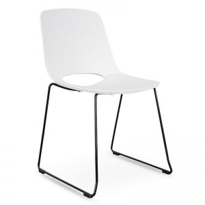 Persy Dining Chair | White Seat - Black Legs | Interior Secrets