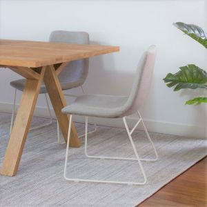 Petra Dining Chair | White Legs by SATARA