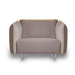 PEYTON Lounge Chair   Light Grey   Modern Furniture