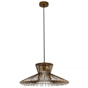 Pheonix 1 Light Small Flair Pendant in Antique Bronze | By Beacon Lighting