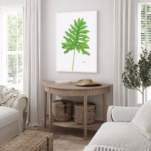 Philodendron Living Art by Pick a Pear | Framed Wall Art