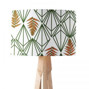 Phoebe Green Orange | Paper Lampshade | Various Sizes | Amba Florette