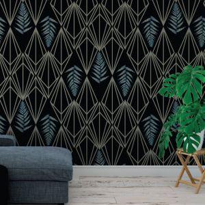 Phoebe - Nature's Glamour | Eco Wallpaper | Phoebe Black | Amba Florette