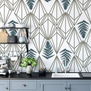 Phoebe - Nature's Glamour | Eco Wallpaper | Phoebe Grey Blue | Amba Florette