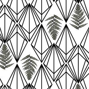 Phoebe - Nature's Glamour | Eco Wallpaper | Phoebe Mono | Amba Florette