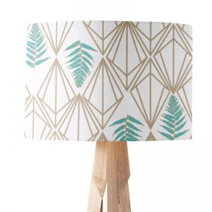 Phoebe Teal | Paper Lampshade | Various Sizes | Amba Florette