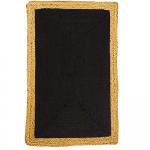 Phoenix Black Jute Rug | Fab Habitat | Various Sizes