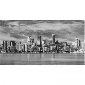 Photography | Unframed Print | Melbourne Mega Panorama B+W | by Nick Psomiadis