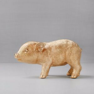 Pig Money Box | Gold | White Moose