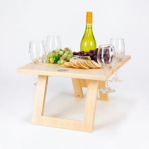 Pine Folding Wine Table - 4 Glass FREE SHIPPING!