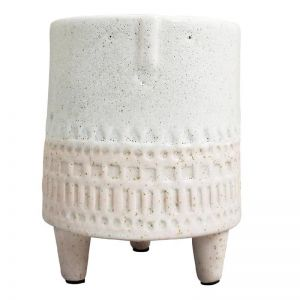 Pink and White Face Planter on Legs