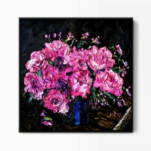 Pink Blooms | Shadow Framed Wall Art