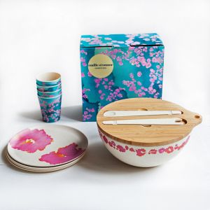 Pink Coral Eco Bamboo Gift Set | Emilie O'Connor Homestore