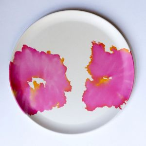 Pink Coral Plate   Emilie O'Connor Homestore