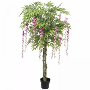 Pink Flowering Artificial Wisteria