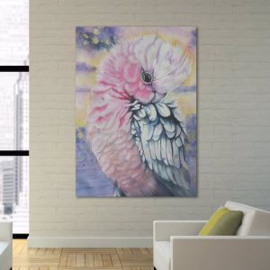 Pink Galah Parrot Watercolor   Limited Edition Print