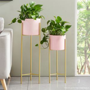 Pink Metal Tiered Plant Stand and Pot Holder | 60cm