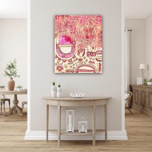 Pink Moon | Original Artwork on Canvas by Jacklyn Foster