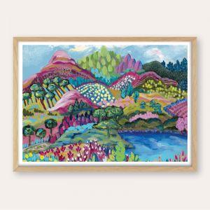 Pink Peaks | Abstract Landscape | Unframed Fine Art Print