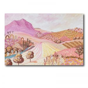 Pink Rock | Abstract Landscape | 91 cm x 61 cm | Acrylic on Canvas
