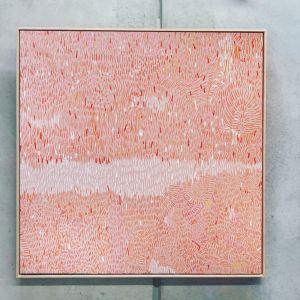 Pink Sky | 103cm x 103cm | Canvas Print | Oak Frame