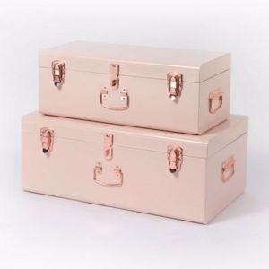 Pink Storage Case | by Belle & Co. Living | Regular - Gold