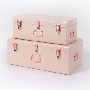Pink Storage Case | by Belle & Co. Living | Regular or Large - Silver