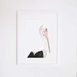 Pippa the Pelican | Giclee Print | by For Me By Dee