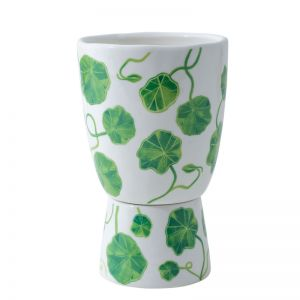 Plant Stand Green Nasturtium Speckle Large