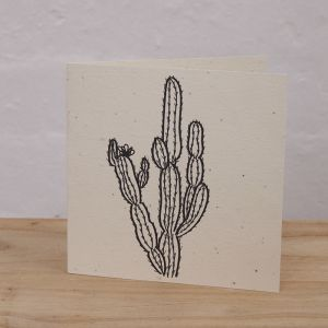 Plantable Cards Handmade on Recycled Paper | Cactus