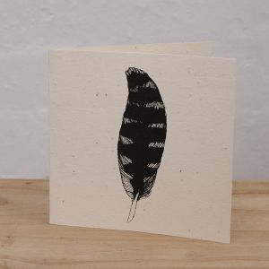 Plantable Cards Handmade on Recycled Paper | Feather