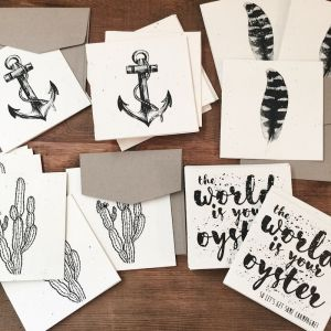 Plantable Cards | Handmade on Recycled Paper | Feather | Inartisan