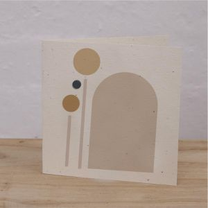 Plantable Cards on Handmade Recycled Paper l Arch Light