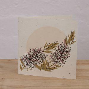 Plantable Cards on Handmade Recycled Paper l Bottlebrush