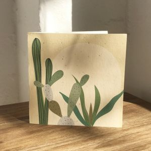Plantable Cards on Handmade Recycled Paper l Cactus Arch