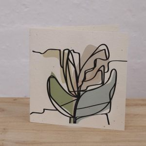 Plantable Cards on Handmade Recycled Paper l Leafy Spring