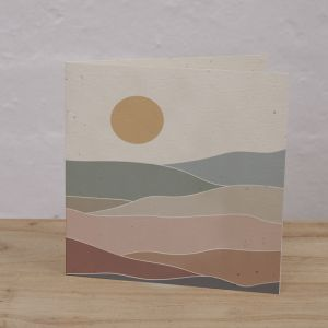 Plantable Cards on Handmade Recycled Paper l Mountain Range