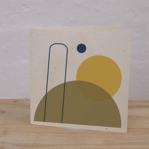 Plantable Cards on Handmade Recycled Paper l Olive, Eclipse