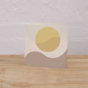 Plantable Gift Tag Pack of 6 l Sunrise, Waves