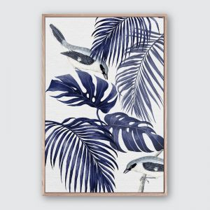 Plantation Blue 1 | Framed Premium Canvas Print