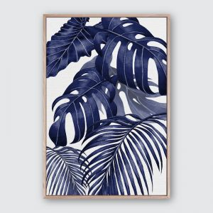 Plantation Blue 2 | Framed Premium Canvas Print