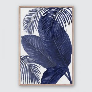 Plantation Blue 3 | Framed Premium Canvas Print