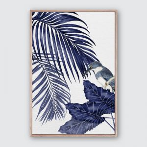 Plantation Blue 4 | Framed Premium Canvas Print