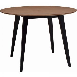 Platon Round Dining Table - 105cm - Black Ash + Cocoa