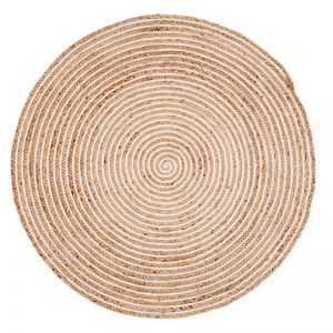 Plumeria | Round Jute Rug | Various Sizes