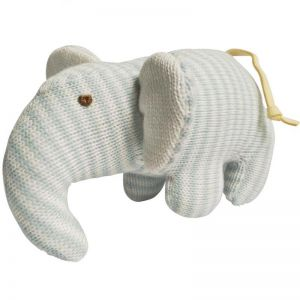 Plush Elephant Blue Stripes