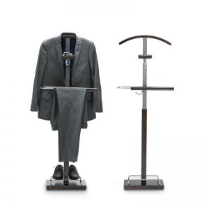 Polished Timber Men's Valet Stand | Vele 102 | Expresso