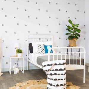 Polk The Dots Grey Wallpaper